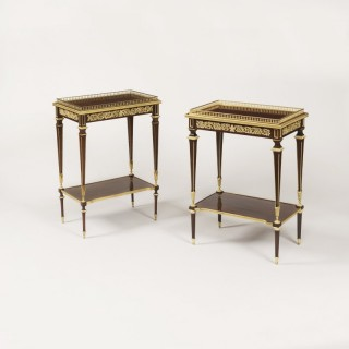 A Matched Pair of Side Tables in the Louis XVIth Manner by Paul Sormani
