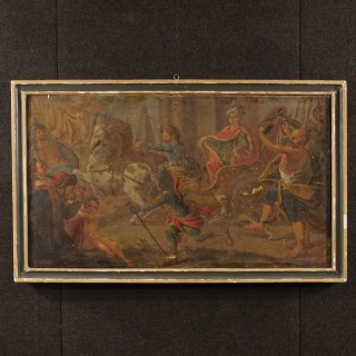 Antique Italian mythological painting oil on canvas from 18th century