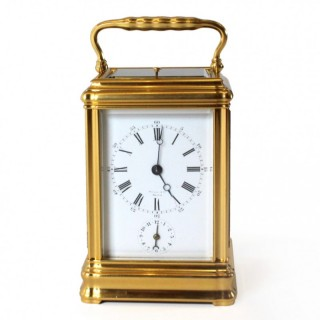 Drocourt grande sonnerie carriage clock for Tiffany