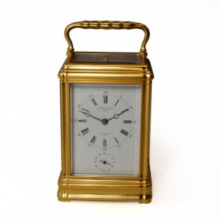 Drocourt striking alarm carriage clock for Leroy & Fils