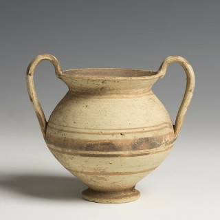 Greek Daunian Pottery Kantharos
