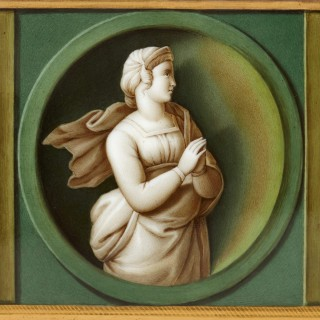 Early 19th Century porcelain plaque after Raphael