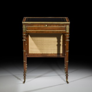 Important Close Pair of Regency Writing Tables attributed to John McLean