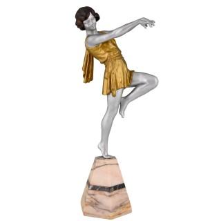 Art Deco sculpture of a dancer
