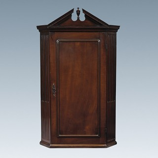 George II Cherry Wood Hanging Corner Cupboard