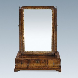 George I Walnut Dressing Mirror