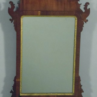 George III Mahogany Fret Cut Wall Mirror