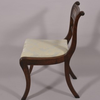 Regency Set of Four Mahogany Dining Chairs