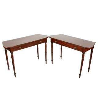 Pair of Georgian One Drawer Side Tables