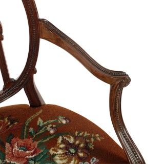 Hepplewhite Design Mahogany Elbow Chair