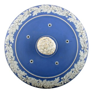 19th Century Jasper Ware Cheese Dish