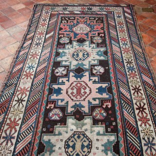 Antique Kazak Kelleh,, Caucasian rug