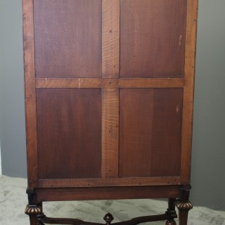 Carolean Style Walnut Cupboard on Stand