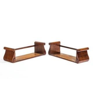 Pair late Regency mahogany book stands