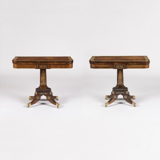 A Pair of Regency Card Tables