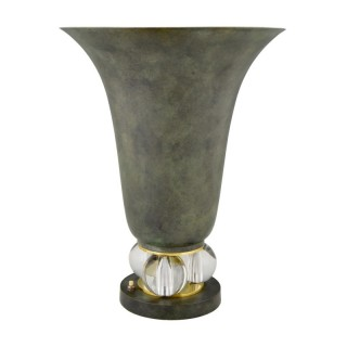 Art Deco uplighter torchiere table lamp.