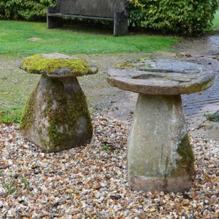 A group of four Ham stone staddle stones