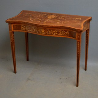 Sheraton Revival Card Table