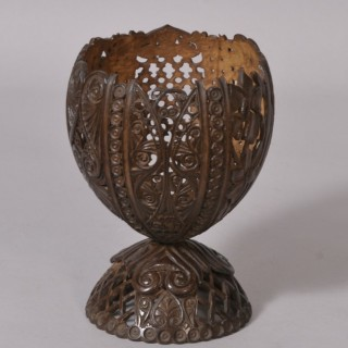 Antique Treen 19th Century Anglo Indian Coconut Cup