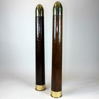 Pair of Royal Navy training dummy shells