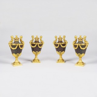 A Rare Suite of Four Pastille Burners in the Louis XVI Manner