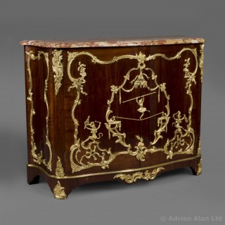 A Fine Louis XV Style Mahogany Side-Cabinet In The Manner of Charles Cressent