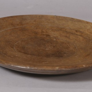 Antique Treen 18th Century Sycamore Platter
