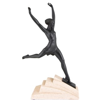 Olympe, Art Deco sculpture of a girl
