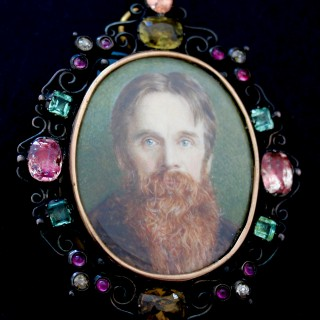 Portrait miniature of William Holman Hunt O.M. (1827-1910