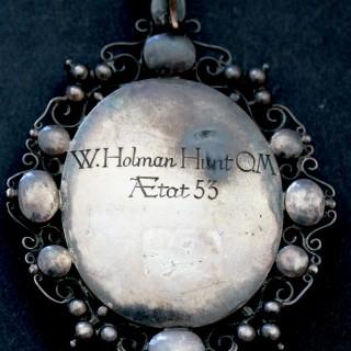 Portrait miniature of William Holman Hunt O.M. (1827-1910