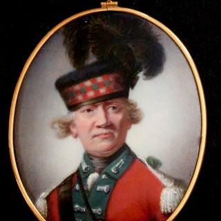 An enamel portrait miniature of Archibald Montgomerie, 11th Earl of Eglinton (1726-1796), Equerry to the Queen, after Sir Joshua Reynolds, 1784
