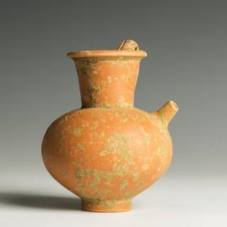 Fine Gallo-Roman Terracotta Strainer Jug