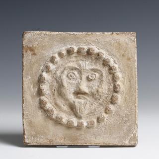 Early Christian Head of Christ Terracotta Tile