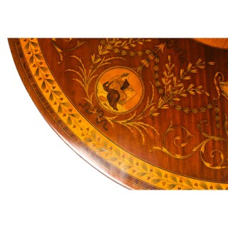 Antique Exhibition Quality English Mahogany Marquetry Centre Table 19th C