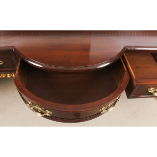 Antique Pair Large Mahogany and Gilt Serving Tables 19th Century