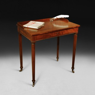 Regency Period Mahogany Chamber Writing Table attributed to Gillows of Lancaster