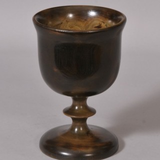 Antique Treen 19th Century Elm Goblet