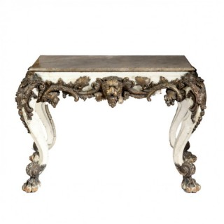 DECORATIVE LION MASK CONSOLE TABLE