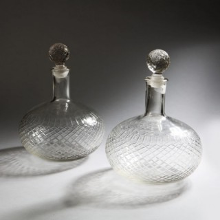 A GROUP OF FOUR DOUBLE MAGNUM DECANTERS