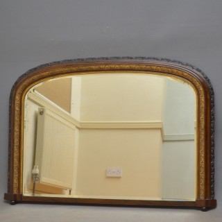 Victorian Arched Overmantel Mirror