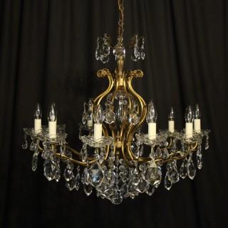Italian Gilded 11 Light Antique Chandelier
