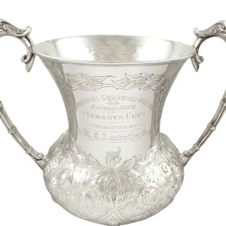 Antique Victorian Sterling Silver 'Coursing' Trophy Cup 1888