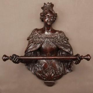 Sculpture Oak Towel Rail Queen Mary
