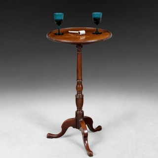 George III Mahogany Dish-topped tripod table