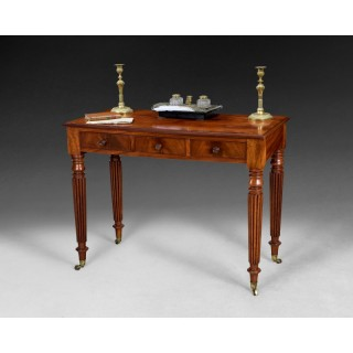 Gillows three drawer Mahogany Writing Table