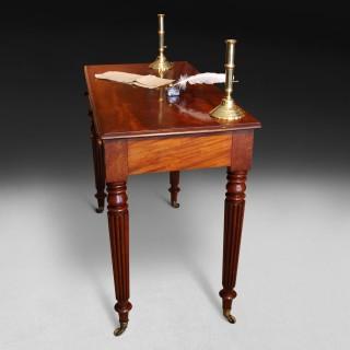 Gillows three drawer Mahogany Writing Table
