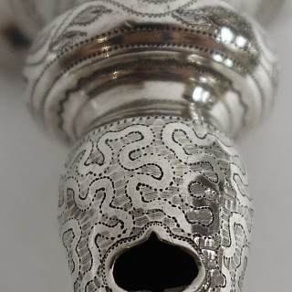 Antique Silver Baby Rattle