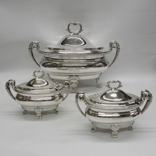 George III Silver Tureens by Paul Storr