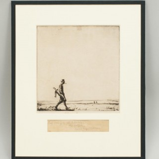 The Golfer, Etching by Barclay