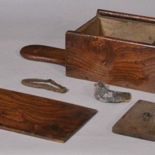 Antique Treen 18th Century Elm Tinder Box